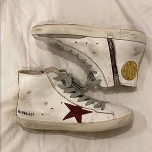 SIZE 7 Golden Goose Francy High Top Sneakers